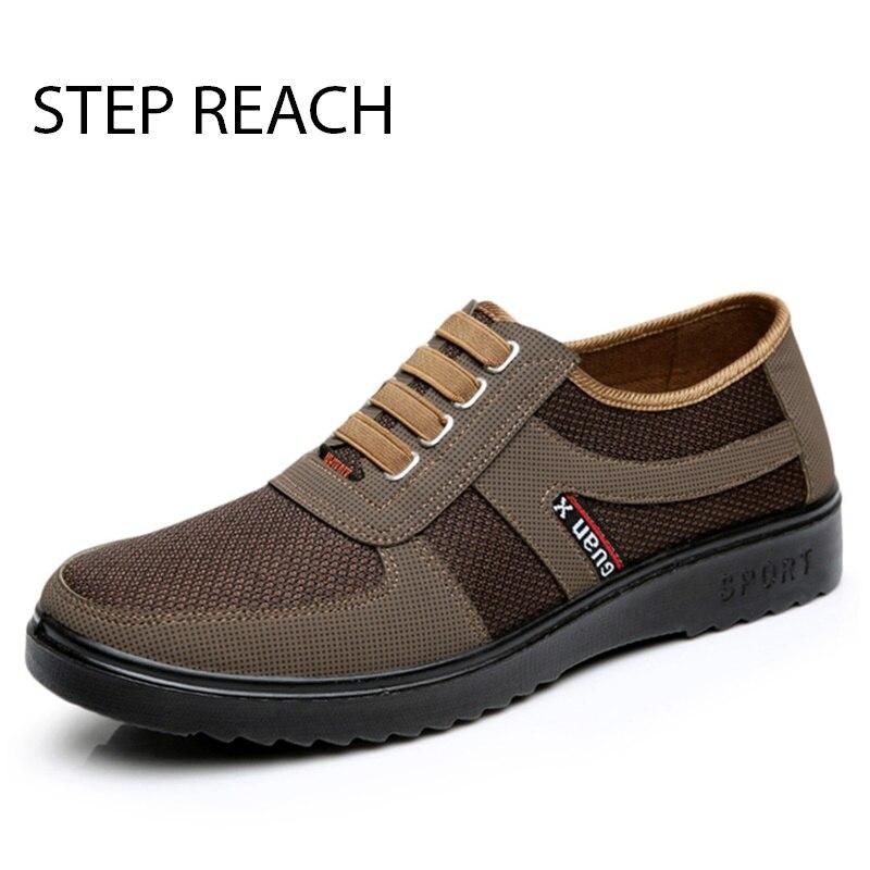 STEPREACH Marke schuhe männer erwachsene gummi solide Slip Auf wohnungen atmungsaktiven komfort tenis masculino adulto sapato zapatos hombre sneak