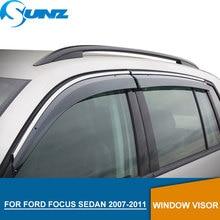 Window Visor for Ford Focus 2007-2011 side Winodow Deflectors rain guards Sedan SUNZ