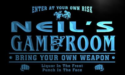 x0234-tm Neils Fight Club Game Room Custom Personalized Name Neon Sign Wholesale Dropshipping On/Off Switch 7 Colors DHL