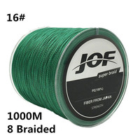 16# 1000m 8 Braided Fishing Line 100% PE 0.7MM 120LBS 54KG Super Strong 8 Strands Rope Cord Wire Multifilament Fishing wire #C0