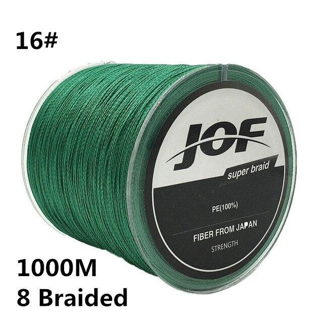 16 #1000 m 8 ligne de pêche tressée 100% PE 0.7 MM 120LBS 54 KG Super fort 8 fils corde cordon fil Multifilament fil de pêche # C0