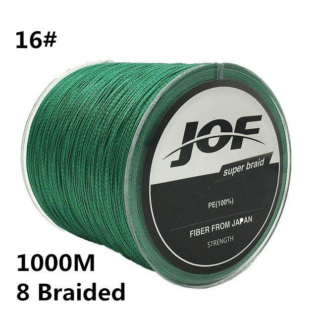 16# 1000m 8 Braided Fishing Line 100% PE 0.7MM 120LBS 54KG Super Strong 8 Strands Rope Cord Wire Multifilament Fishing wire #B2 pro beros 300m pe multifilament braided fishing line super strong fishing line rope 4 strands carp fishing rope cord 6lb 80lb