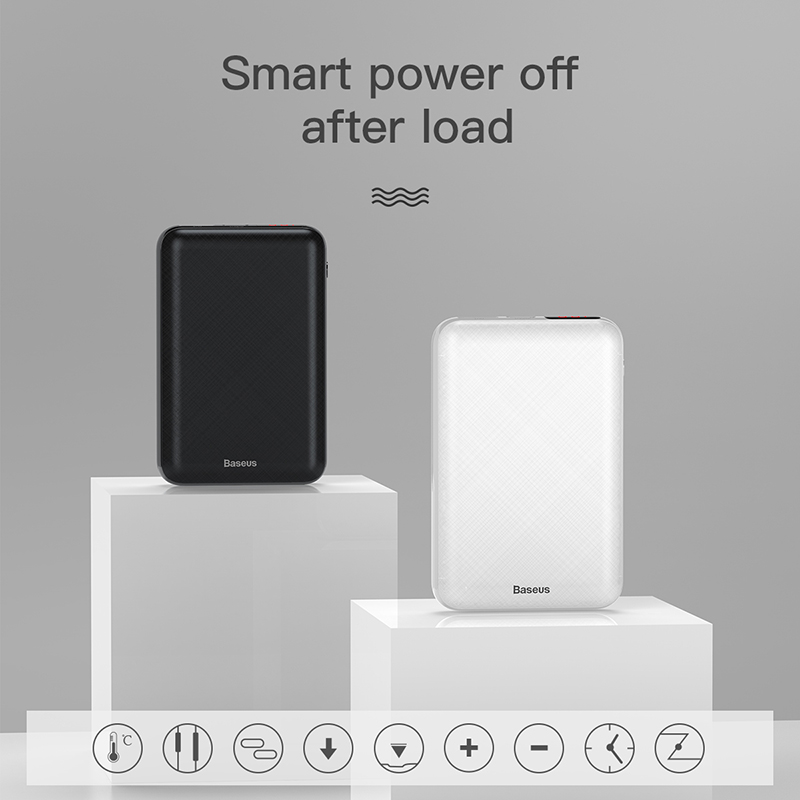 Baseus 10000 мАч USB PD 3A Быстрая Зарядка Power Bank для iPhone Xs Max USB зарядка Powerbank для Samasung Xiaomi Huawei Bank