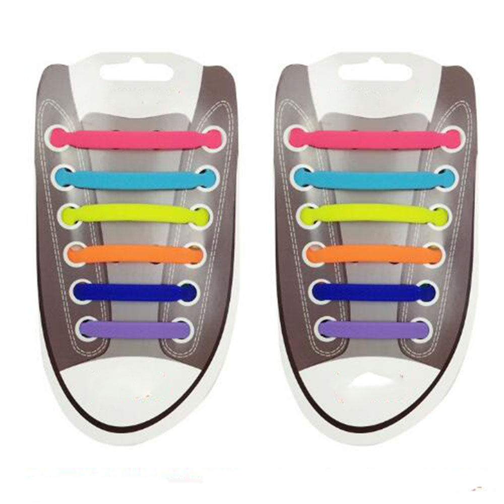 12PCs/ Pack New Unisex Adult Athletic Running No Tie Shoelaces Elastic Silicone Shoe Lace All Sneakers Fit Strap T Shpe 12pcs set silicone children adult running no tie shoe lace sneakers solid color lazy elastic latchet adult running no tie shoe