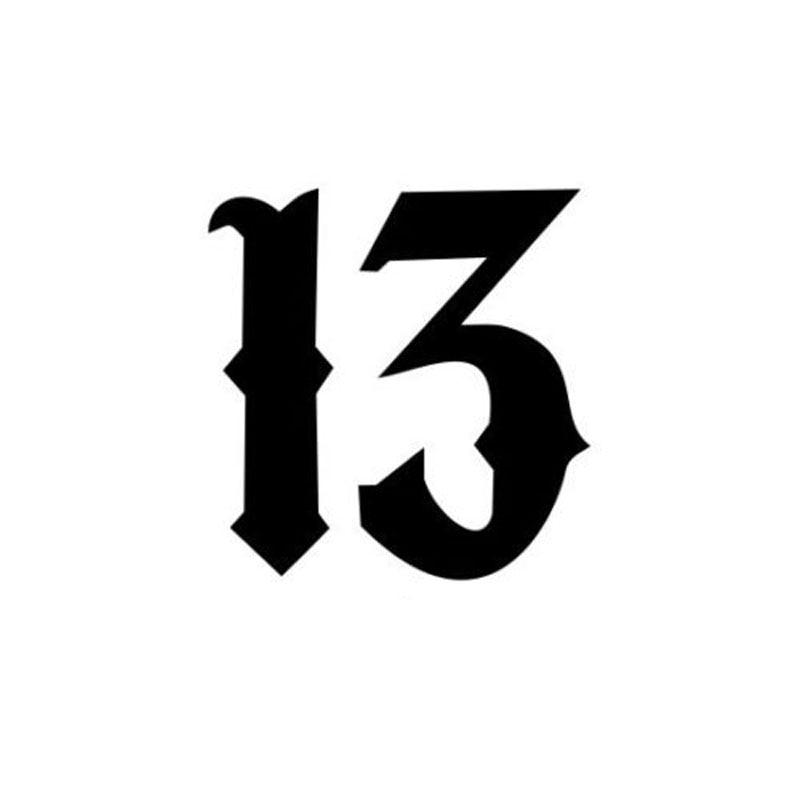 10.2*10.6 CENTÍMETROS Arte Fonte 13 Moda Estilo Do Carro Decalques de Vinil Corpo de Carro Adesivos Acessórios Preto/Prata C9-0247