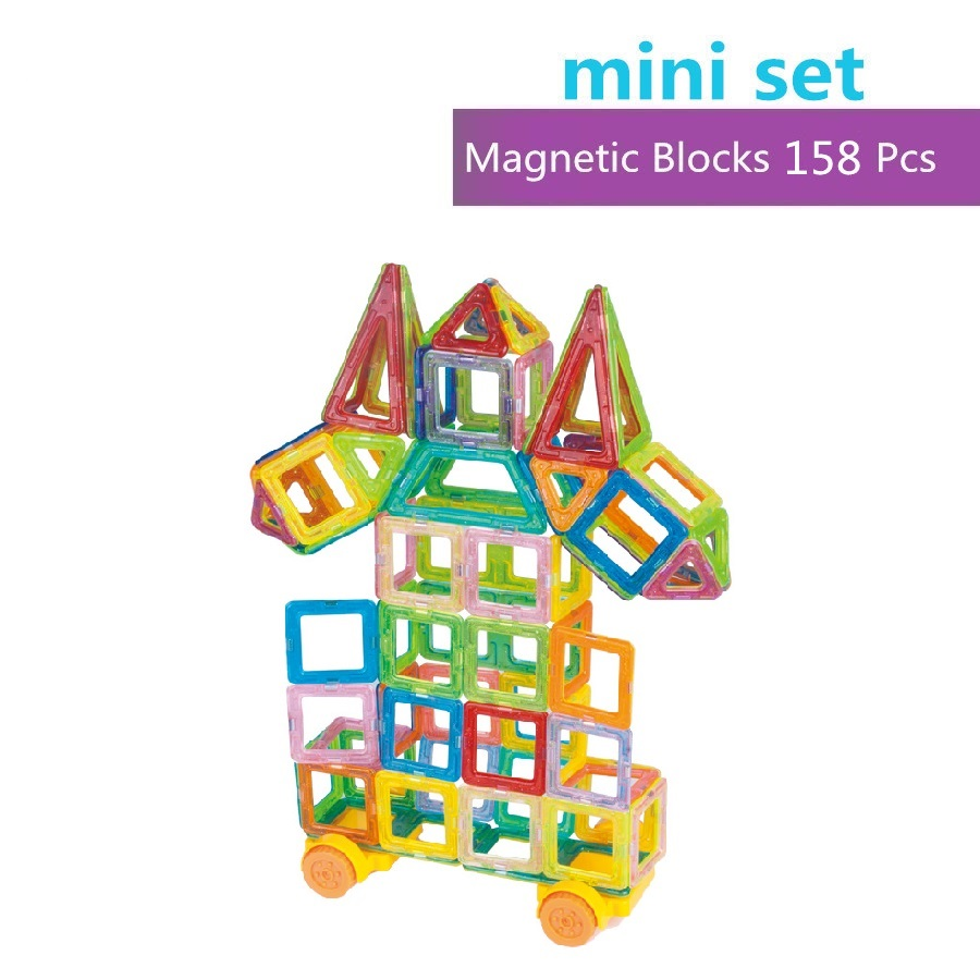 158pcs Mini Magnetic Designer Construction Set Model & Building Toy Plastic Magnetic Blocks Educational Toys For Kids Gift 62pcs set magnetic building block 3d blocks diy kids toys educational model building kits magnetic bricks toy