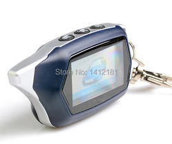 Russian version C9 Key Fob keychain Tamarack for 2-way starline C9 lcd Remote Control two way car alarm system
