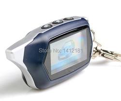 Russian version C9 Key Fob keychain Tamarack for 2-way starline C9 lcd Remote Control two way car alarm system