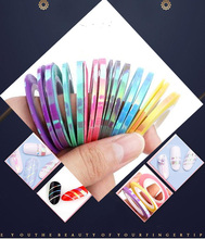 2018 New Style Mermaid Striping Tape Line Sticker Nail Art Decals DIY Supplies-6 Colors Available[3Rolls/Lot size 1mm 2mm 3mm]
