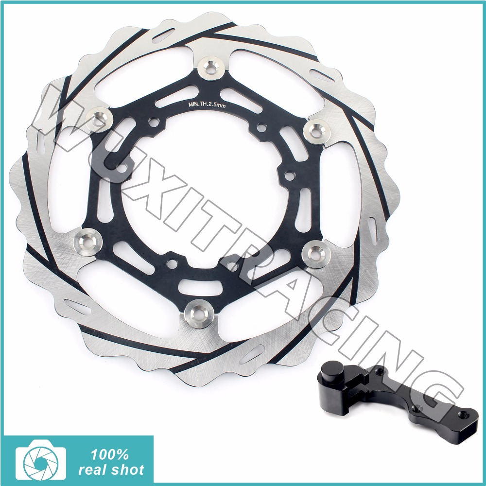 Oversize 270MM Groove Front Brake Disc Rotor Bracket Adaptor for HONDA CRE CRF F X R ENDURO 125 230 250 300 450 500 95-13 96 97 ahl motorcycle brake front pads for honda crf 150 230 250 450 motorbike parts fa185 crf 230 f l m 08 15