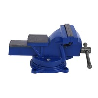 5 Inch 125mm Work Bench Vice Operation Platform Vise Workshop Clamp Engineer Jaw Table Swivel Base Heavy Duty Tools bankschroef
