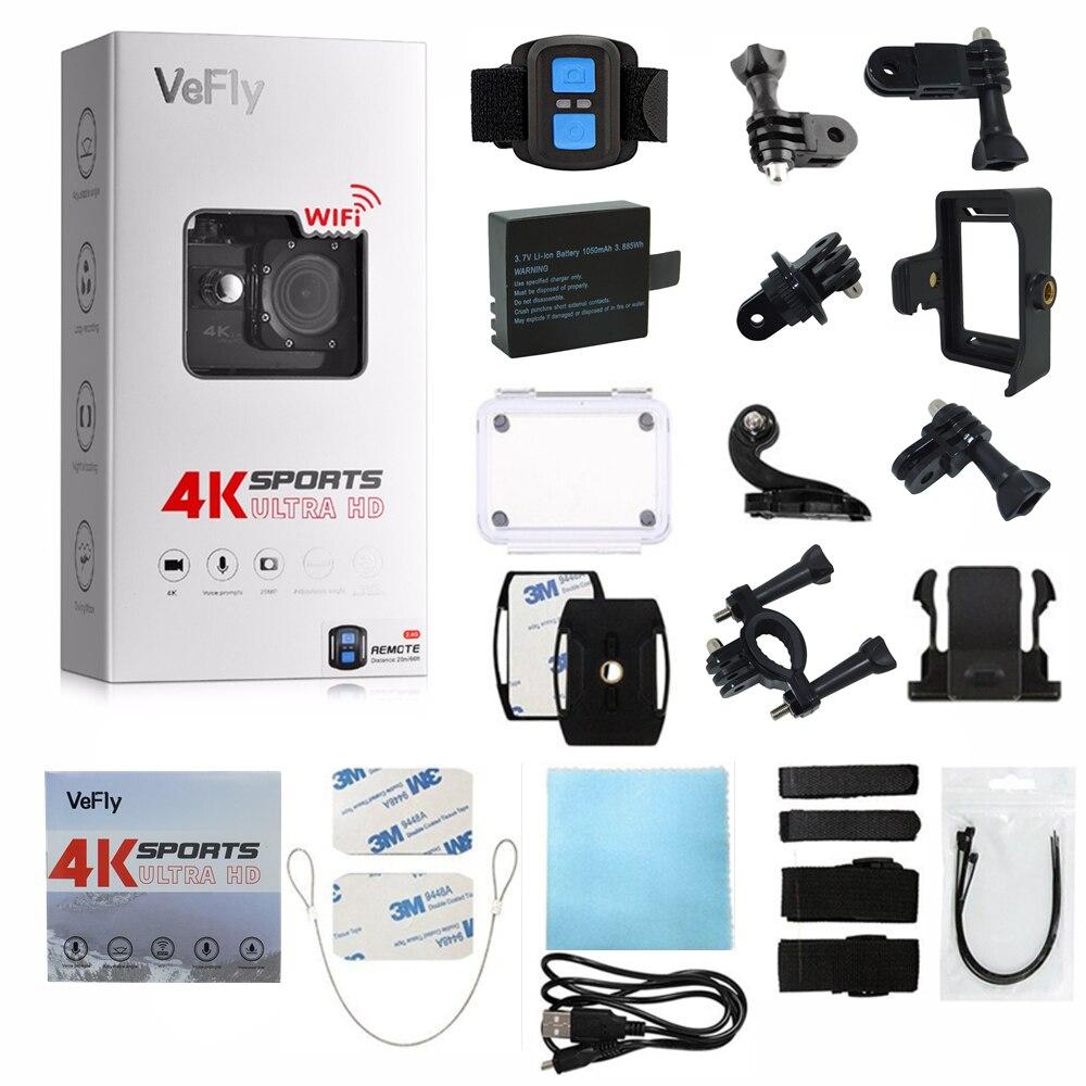 VeFly 4 k Ultra HD sport actie camera, de waterdichte Wifi go pro cam met Anti Shake elektronische GYRO wifi auto video kamera - 6