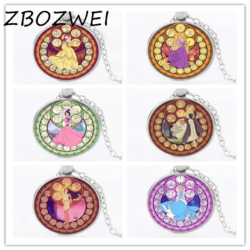 ZBOZWEI 2018 Fashion Fairy tale princess pendant jewelry poker united cartoon fairy tale choker necklace bronze women gift