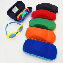 цена на Fashion Kids Cute Cartoon Car Shape Glasses Box for Gift Sunglasses Zipper Boxes Children Glasses Strage Bag