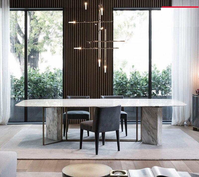 75 Cm Hohe Marmor Tisch Mit Metall Füße/200x 100 Cm Marmor Tabletop/8 Stühle Enthalten Ruf Zuerst