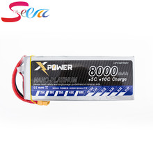 10pcs Lipo battery 14.8v 4s 8000mah 30C max 35C Xpower Lithium batteries XT60/T/EC5 plug for RC Helicoptes Airplanes Drone parts