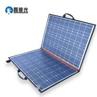 110W 18V solar panel charger 2 folds 100w folding portable bag + 12V 24V 10A controller for battery power bank outdoor blanket