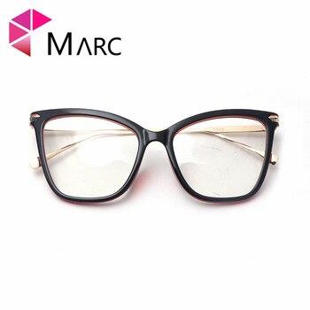MARC UV400 mujeres 2018nuevo gafas de diseñador ojo de gato gafas de sol de resina sol gafas de plástico transparente gafas