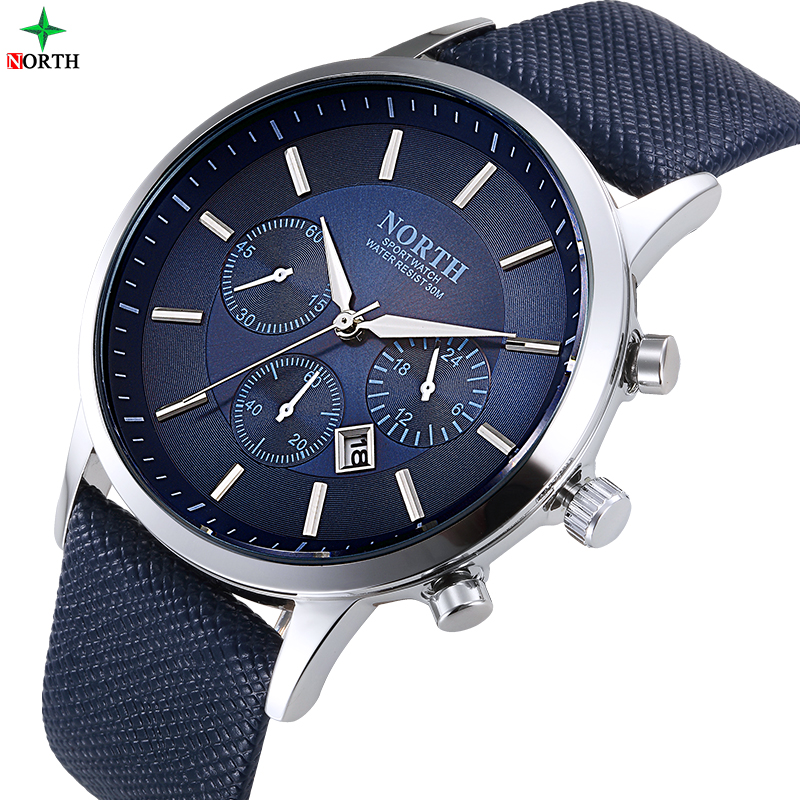 Men Watches Fashion Wristwatch NORTH 30M Waterproof Stainless Steel Casual Male Clock Desgin Military Quartz Men Sport Watch new arrival 2015 brand quartz men casual watches v6 wristwatch stainless steel clock fashion hours affordable gift