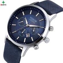 NORD Hommes Sport Montre-Bracelet 30 M Étanche En Acier Inoxydable Casual Male Horloge Cadeau De Mode Desgin Militaire Quartz Hommes Sport Montre