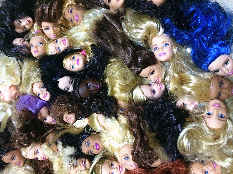 AILAIKI 20 Pcs/lot Foreign Trade Original 1/6 Girl Doll Heads For Barbies Birthday Gift  ...