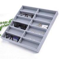 Sunglasses Accessories Showcase Glasses Display Box Storage Desktop Organizer For 12 Pairs Eyewear Box
