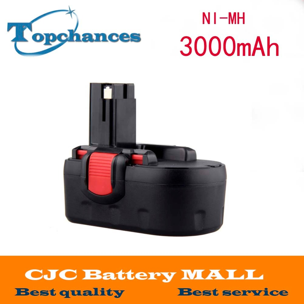 Free Shipping 18V Ni-MH 3.0Ah Replacement Power Tool Battery for Bosch for bosch 24v 3000mah power tool battery ni cd 52324b baccs24v gbh 24v gbh24vf gcm24v gkg24v gks24v gli24v gmc24v gsa24v gsa24ve
