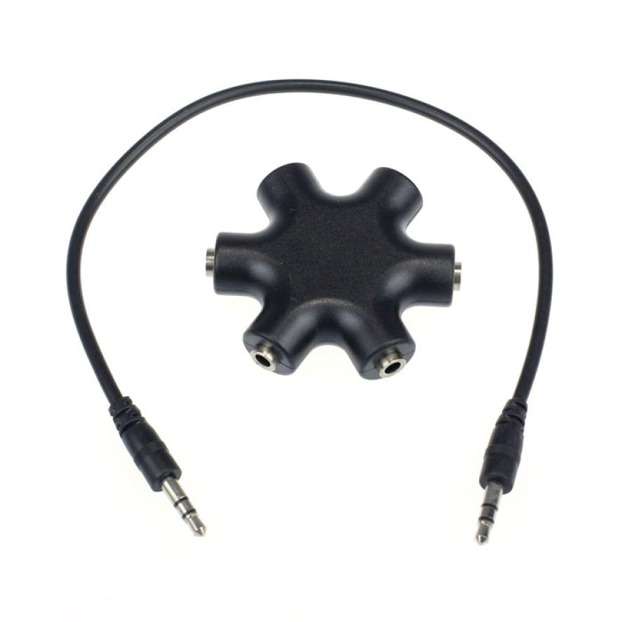 3.5mm Headphone Earphone Audio Splitter 1 Male to 2 3 4 5 Female Cable BK Valentine's Day 3.5 mm Earphone Z1025 DROPSHIP