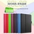 Para Huawei M2 Tablet escudo protetor fino para Huawei MediaPad M2 8.0 M2-801W / 803L Tablet caso Litchi capa de couro PU