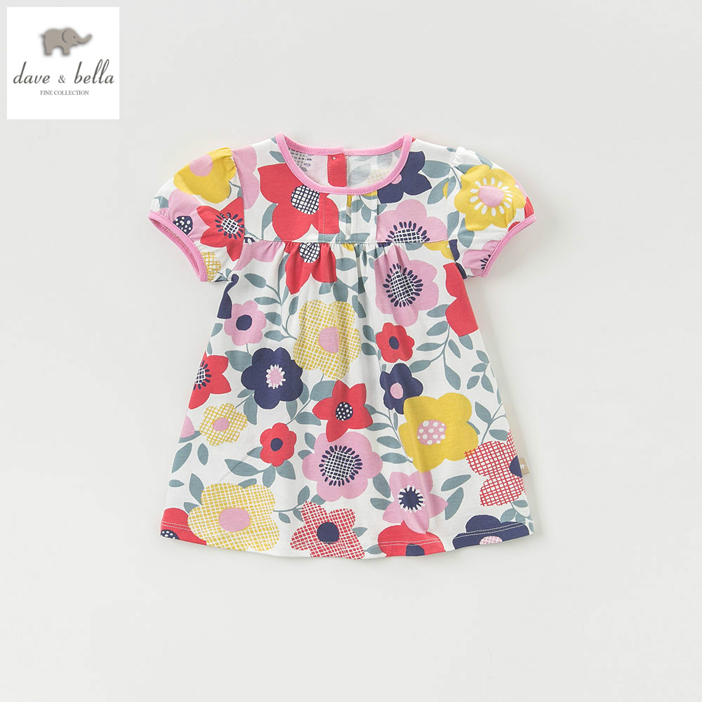 DB4335 dave bella summer baby girls princess dress childs flowers dress kids toddle dress children dress baby lolita costumes new hot christmas gift 21inch 52cm bearbrick be rbrick fashion toy pvc action figure collectible model toy decoration