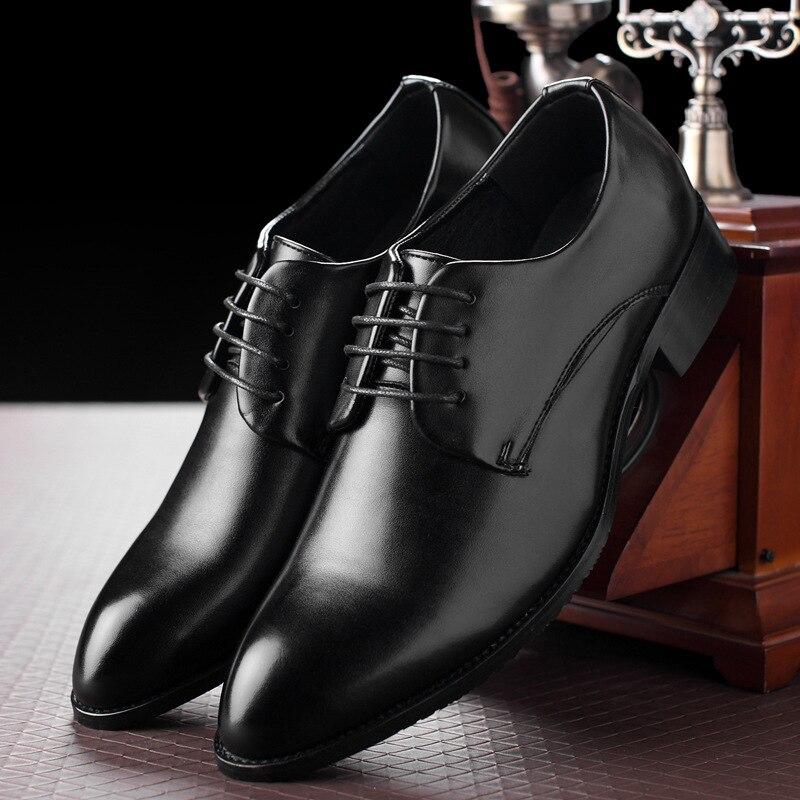 Hommes Classique Lacets M D'affaires anxiu Oxford Chaude Black Bout Vente Chaussures En Pointu Noir Cuir 0AnfxA4