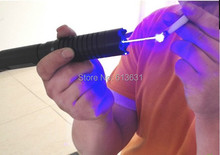 Buy online 2000MW 2W Laser Pointers SPECIAL OFFER 450nm Focusable Blue Burning Laser Pointer Light Cigars Pop Balloons With 5 Caps