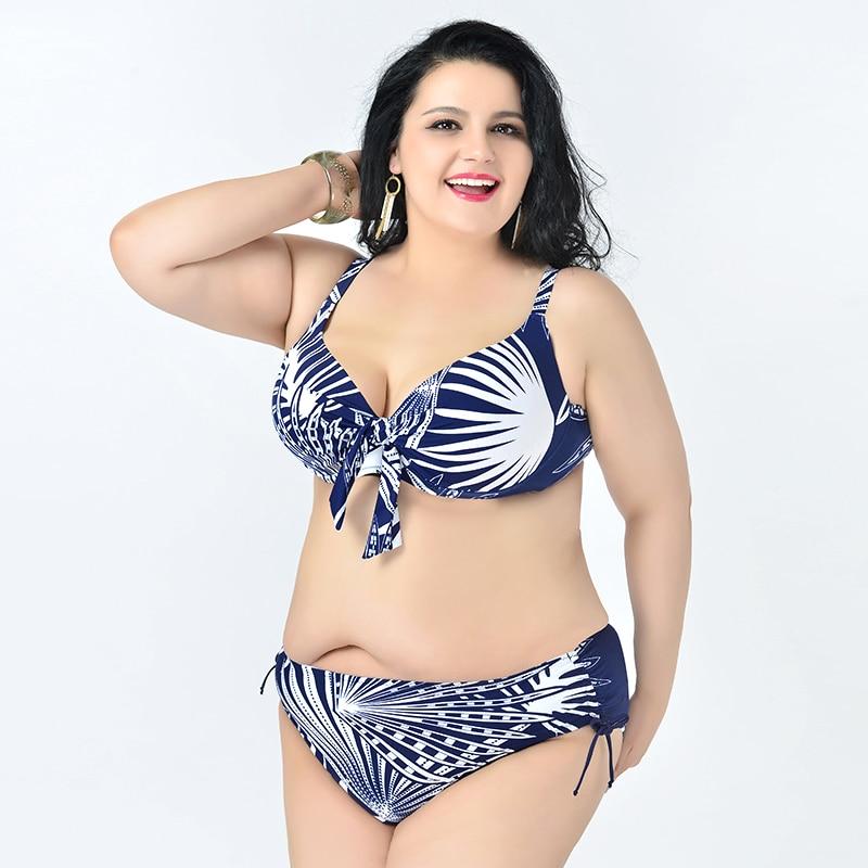 214d34c731 Fat Bikini 2018 Women Plus Size Swimwear New Bikinis Women Swimsuit Biquini  Push Up Bikini Set Retro Bathing Suit-in Bikinis Set from Sports    Entertainment ...