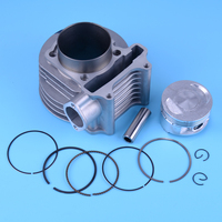 beler Motorcycle Cylinder 61mm Piston E ring Gasket 12pcs Kit fit for GY6 125CC 150CC Scooter ATV