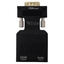 Адаптер конвертер wiistar 1080p vga в hdmi адаптер vga2hdmi