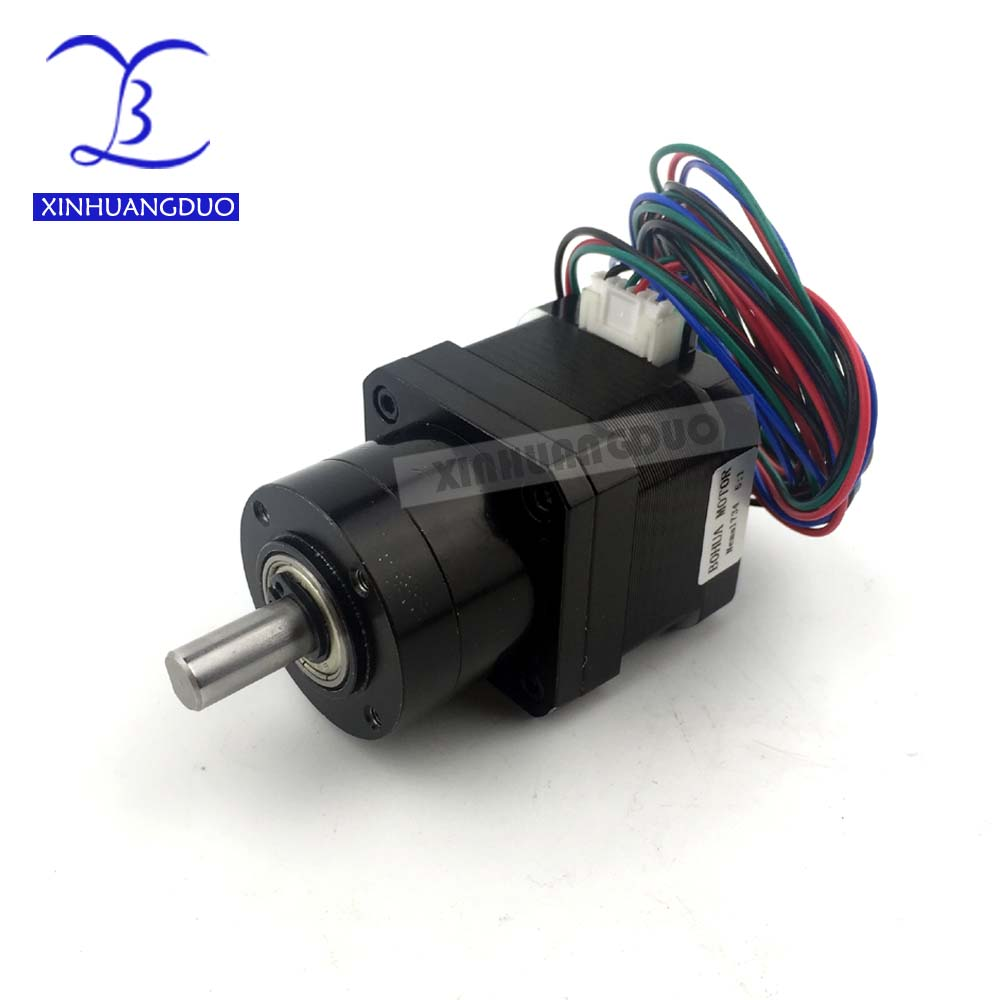 Nema 17 Stepper Motor Gear ratio 5:1 14:1 19:1 34mm Planetary Gearbox High Torque Geared Stepper Motor 1.68A DIY CNC 3D Printer