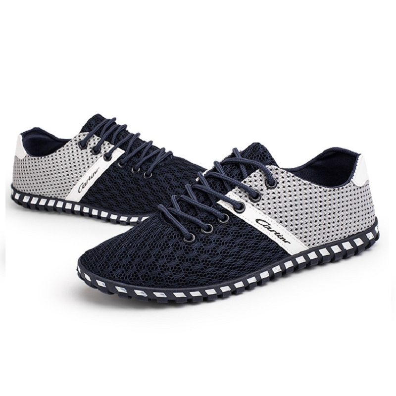 New Brand Summer Running Shoes for Men Sneakers Jogging Chaussure Walking Trainers Lace up Breathable Mesh Men Sport Shoes male in Men 39 s Casual Shoes from Shoes