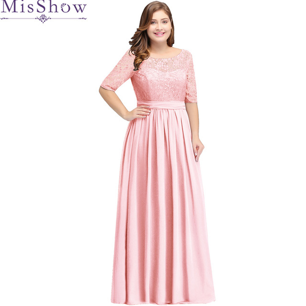 US $37.33 43% OFF|MisShow Plus Size Formal Evening Dresses Long Women  Elegant Gray Scoop Neck Chiffon Empire Backless Party Gown Robe De  Soiree-in ...