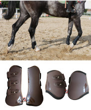 High Quality Adjustable Soft Leather Horse Riding Equestrian Equipment racing Legging Protector Exercise boots Bracers A
