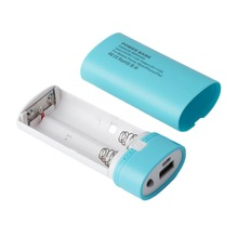 5600mAh USB Portable External Backup Battery Charger Outdoor Mobile Phones Charging 2*18650 Battery Power Bank Case