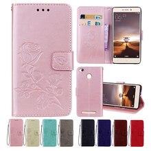 Xiaomi Redmi 3S Case Leather Case Back Cover For Xiaomi Redmi 3 S PRO Rose Flower Design Phone Cases Redmi 3 PRO 3S Cover xiaomi redmi 3s 32gb gold