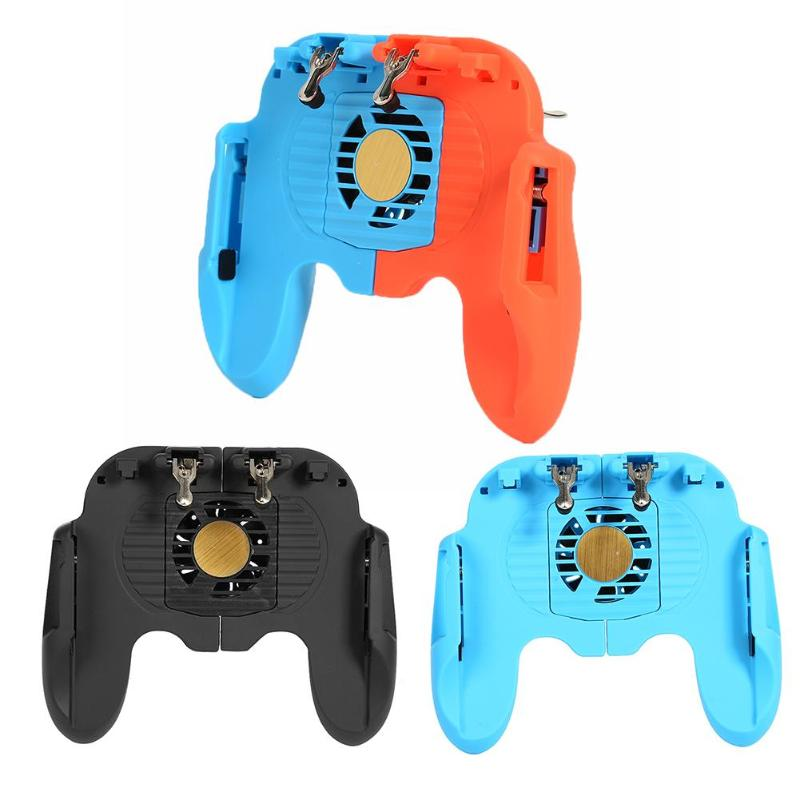 New H6 Mobile Gamepad Controller for smartPhone L1R1 Grip Joystick Trigger for PUBG front key reversible game handle for gamer