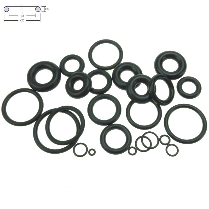10pcs Black 72mm x 62mm x 5mm Rubber O Ring Oil Seal Sealing Gaskets
