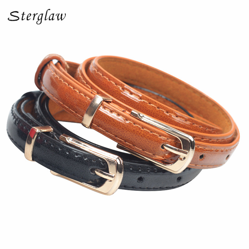 Fashion Rushed Hot Sale Adult Paint Leather Belts For Women Dress 2019 High Quality Female Pinceis Belt Thin Skinny Waist J208