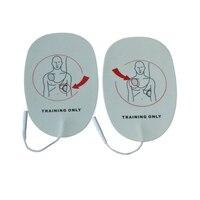50 упак./лот AED электрода колодки Замена Training патчи Применение с AED тренер машина самоклеющиеся только для тренировок Применение