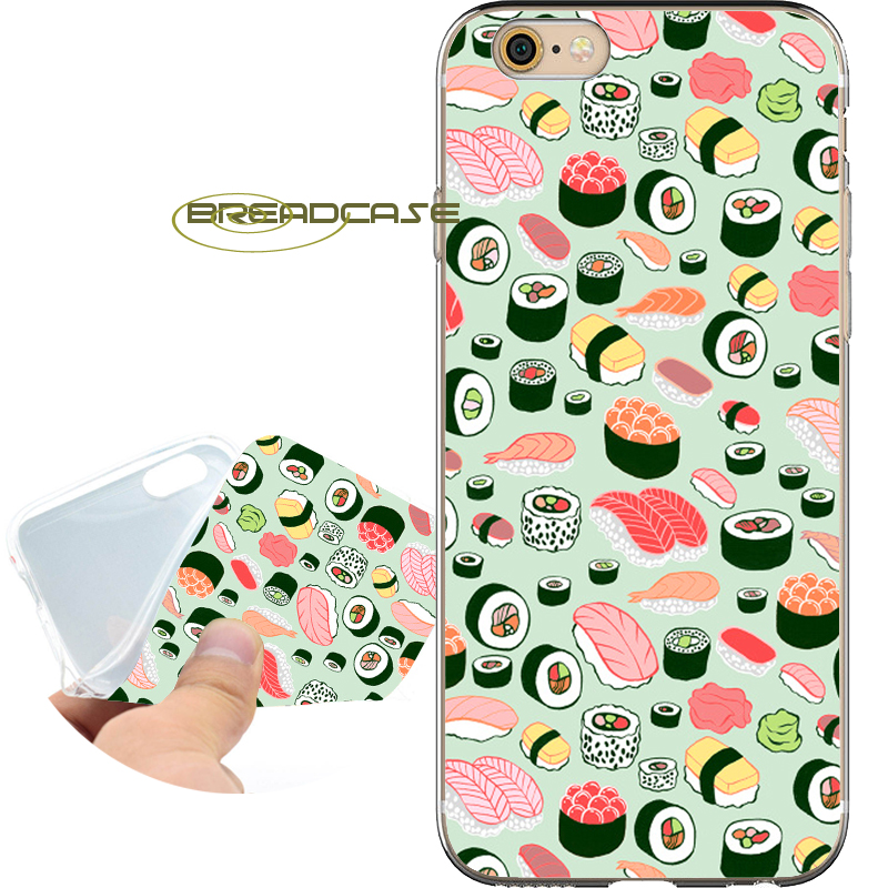 Fundas Japanese Food Sushi Soft Clear TPU Silicone Phone Cases for iPhone X 8 7 6S 6 Plus 5S SE 5 5C 4S 4 iPod Touch 6 5 Cover.