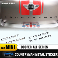 For BMW Mini Cooper Countryman R60 F60 3D Metal Rear Trunk word Letters Decal Badge Emblem Logo Stickers car styling