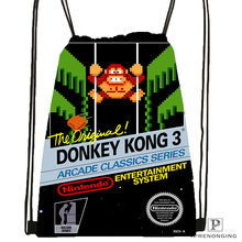 Custom Donkey Kong Drawstring Backpack Bag for Man Woman Cute Daypack Kids Satchel (Black Back) 31x40cm#180531-01-12