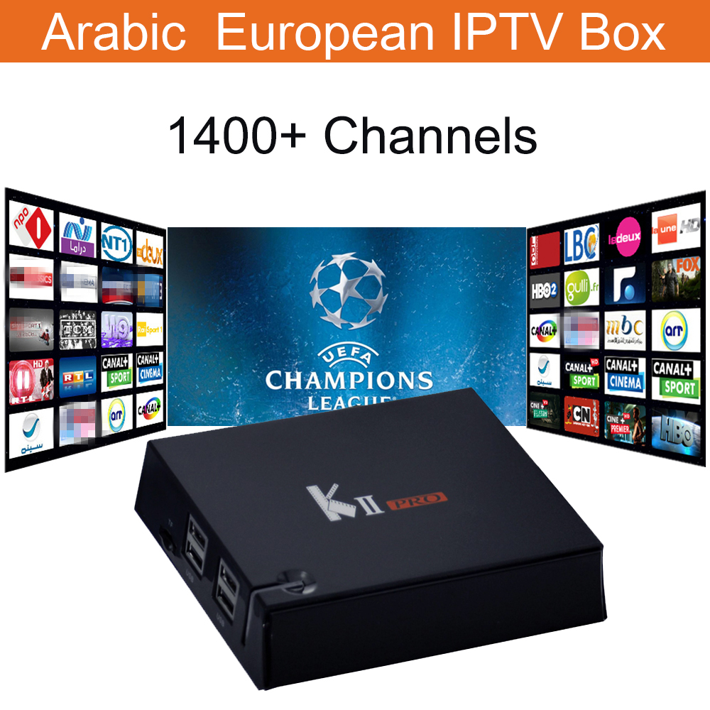 French IPTV Box KII Pro DVB S2 DVB T2 4K Android 5.1 TV Box with 1400+ IPTV Europe French Arabic Spain Turkey Smart Set top Box