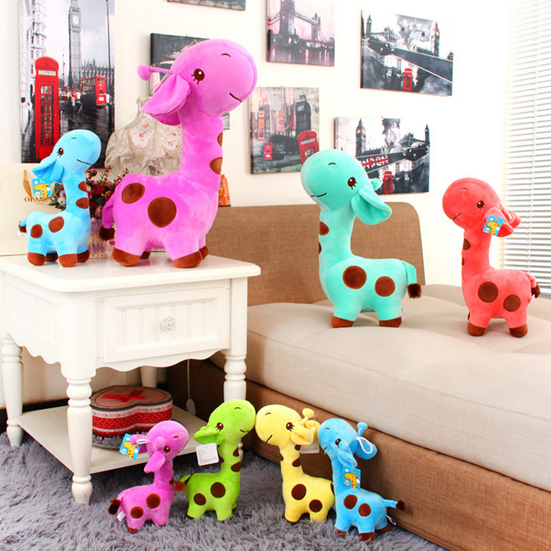 New 1pcs 18 x 7 cm Cute Plush Giraffe Soft Toys Animal Dear Doll Baby Kids Children Birthday Gift 1pcs Free Shipping